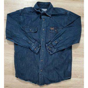 Carhartt Mens Denim Blue Shirt Size Medium
